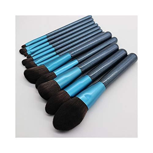 Pinceaux de Maquillage Premium 12 pièces Pinceau de Maquillage Ensemble débutant Ensemble Complet de Poudre Poudre Ombre à paupières Brosse Fondation Pinceau Brosse de Maquillage Portable
