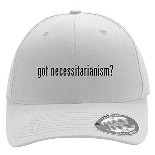got Necessitarianism? - Men's Flexfit Baseball Cap Hat, White, Small/Medium