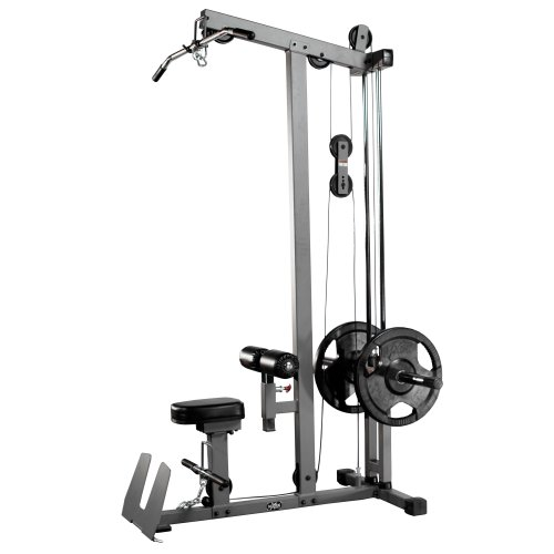 XMark Heavy Duty LAT Pulldown and Low Row Cable Machine with High and Low Pulley Stations and Flip-Up Footplate (Plates Not Included)