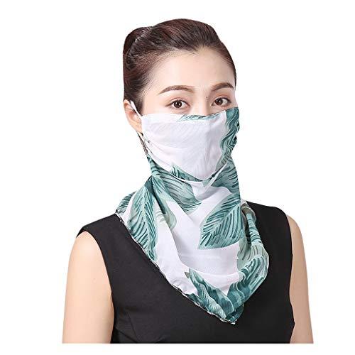 riou Damen Bandana Halstuch Mundschutz Multifunktionstuch Schlauchtuch Staubdicht UV-Schutz Atmungsakti Sommer Chiffon Tuch Schlauchschal