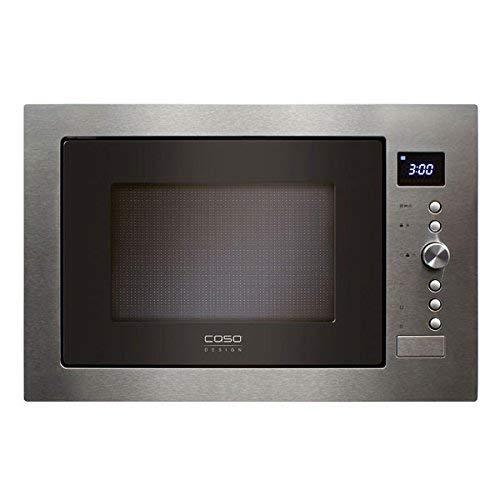 Caso EMCG32 Einbaumikrowelle inkl. Grill 1100 Watt und Heißluft 2500 Watt / 10 automatische Kochprogramme / mit großen und sehr wertigen Edelstahl gebürsteten Rahmen