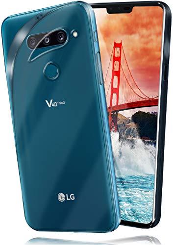 MoEx® Ultra-Clear Hülle [Vollständig Transparent] passend für LG V40 ThinQ | rutschfest & extrem dünn - Fast unsichtbar, Klar