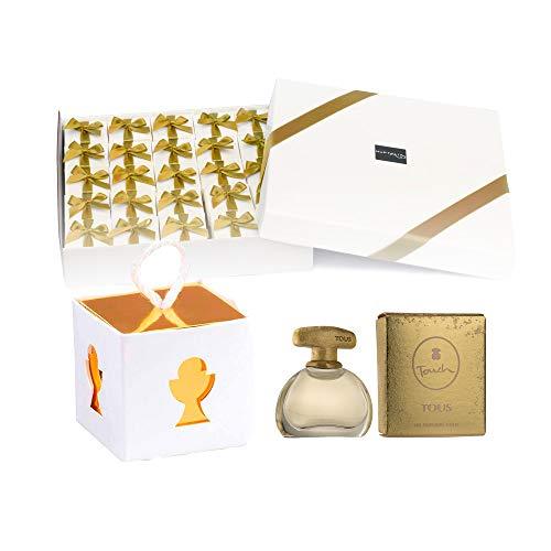 Pack 25 mini perfumes de mujer como detalles de Primera Comunión para invitados Tous Touch Eau de toilette 4,5 ml. original