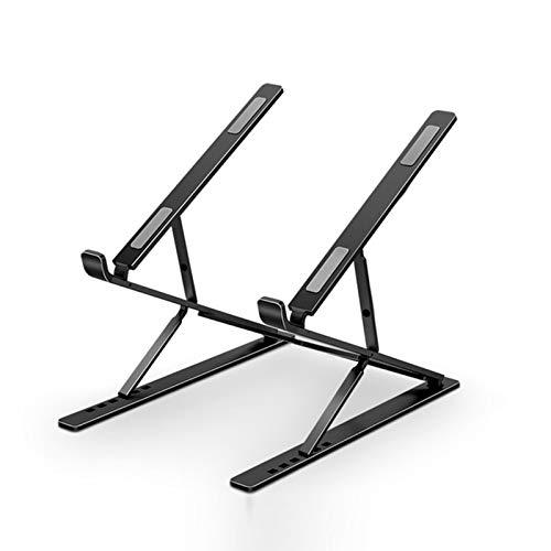 KELUNIS Dual Adjustable Laptop Stand, Foldable PC Computer Cooling Holder for MacBook Base Stand Portable Support Notebook Stand Riser Bracket,Black