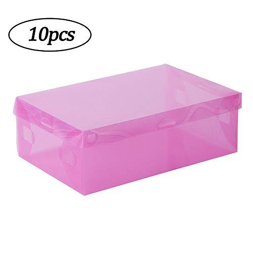 SANJIANG Paquete De 10 Cajas De Almacenamiento De Zapatos - Cajas De...