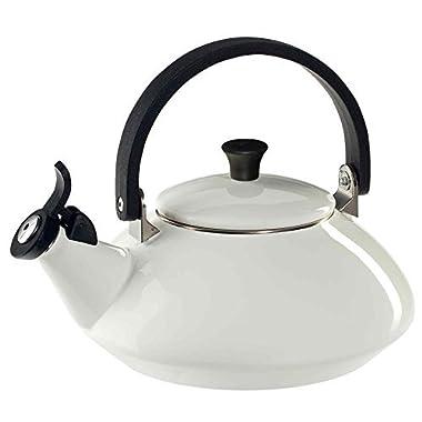 Le Creuset Enamel-on-Steel Zen 1-2/3-Quart Teakettle, White