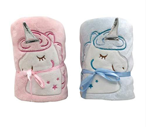 Gdxy Plüschtier Einhorn niedlichen Kinderspielzeug Plüschtier tragbare Baddecke Kind Mädchen Junge Geburtstagsgeschenk Auto Luftfahrt Teppich Büro Nap Teppich
