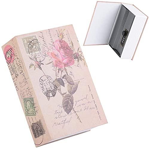 SYGoodBUY Caja fuerte para libros de simulación, caja fuerte creativa, caja de almacenamiento con cerradura de combinación, se aplica a la casa, oficina, tienda, dormitorio escolar y espacio personal
