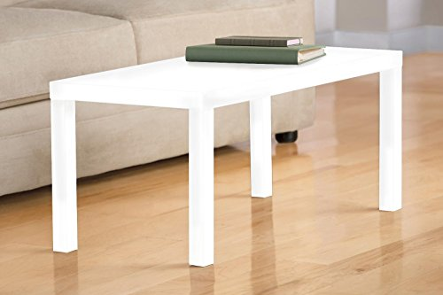 DHP Parsons Modern Coffee Table, White
