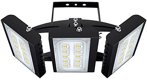 LED Flood Light, STASUN 90W 8100lm Security Lights with 330°Wide Lighting Area, OSRAM LED Chips, 6000K Daylight, Adjustable Heads, IP66 Waterproof Outdoor Floodlight for Yard, Garden, Garage