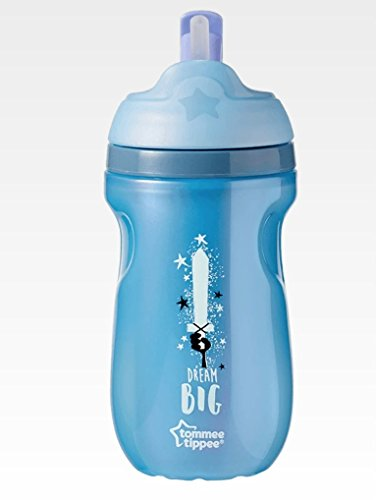 Tommee Tippee Active Straw Insulated Cup non versato BPA Free Age 12m +, 260ml, Blu - Spada