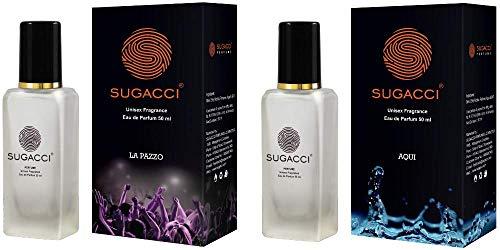 SUGACCI Perfumes for Man and Perfumes for Woman - Eau de Parfum - 10 x More Perfume than Deodorant - Unisex Fragrance (AQUI LA PAZZO COMBO)