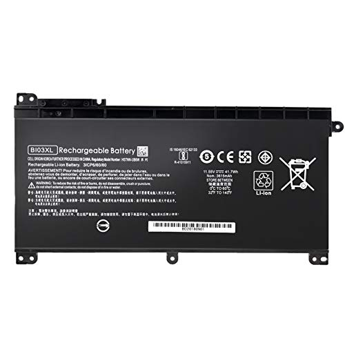 K KYUER 41.7Wh BI03XL ON03XL Batería para HP Pavilion X360 13-U M3-U M3-U001DX M3-U103DX 13-U100TU 13-U131TU 13-U108TU Stream 14-AX 14-CB 14-DS 14-AX010NR 14-AX010WM 14-AX020WM 14-CB011WM 14-DS0120NR