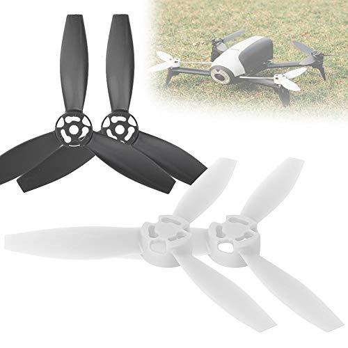 RC Drone Propellerblatt, 4 Stück RC Quadcopter Propellerblatt Upgrade Teile kompatibel mit Bebop 2 Drone(2 Stück, schwarz, 2 Stück, weiß)