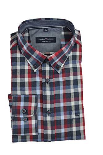 Casa Moda - Comfort Fit - Herren Freizeit Hemd mit Button down Kragen (403556300), Größe:3XL, Farbe:Blau (100)