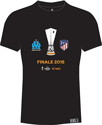 Olympique de Marseille T-Shirt, Finale UEFA Europa League 2018 – Offizielle Kollektion, Herrengröße XL Schwarz