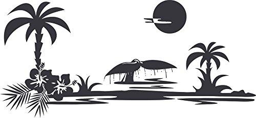 GRAZDesign Wanddekoration Strand Meer - Wandposter Wandsticker Geschenke Küstenlandschaft - Wandtattoo Hawaii / 65x30cm / 640073_30_073
