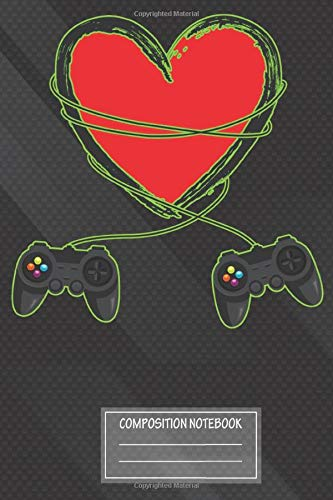 Notebook: Controller Video Gamer Valentines Day , Journal for Writing, Size 6' x 9', 164 Pages
