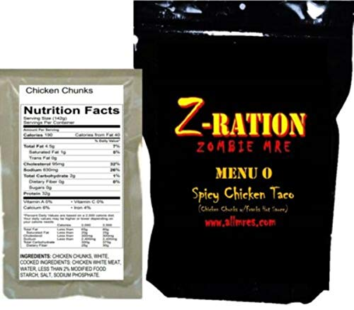 NEW Spicy Chicken Taco Z-Ration (Zombie MRE) Full Meal!