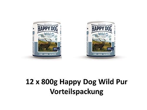 Happy Dog Wild Pur | 12x 800g Hundenassfutter Vorteilspackung