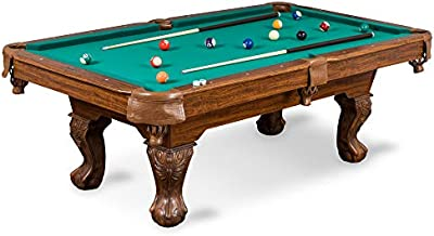 EastPoint Sports Masterton Billiard Pool Table 87 Inch - Scratch Resistant Top Rail, Built-in Durable Leg Levelers – perfect for family game room, adult rec room, basements, man cave, or garage