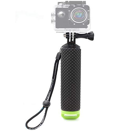 Homeet Palo Selfie Flotante Empuñadura Flotador de Mano Mango Impermeable Selfie Stick para GoPro Hero 7/6/5/4/3+/3 Session SJCAM /Garmin Virb XE/Xiaomi Yi/DBPOWER y etc【Verde】