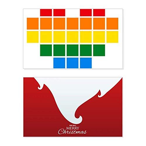 Regenboog Gay lesbische kleine doos hart LGBT vakantie vrolijke kerstkaart Kerstmis Vintage bericht