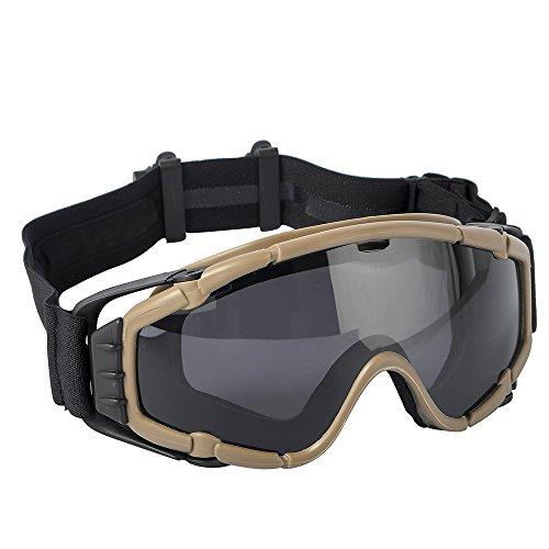 TB-FMA Tactical Anti-Fog SI-Ballistic Regulator Goggles with Fan Airsoft Glasses for Ski Bike Sports...