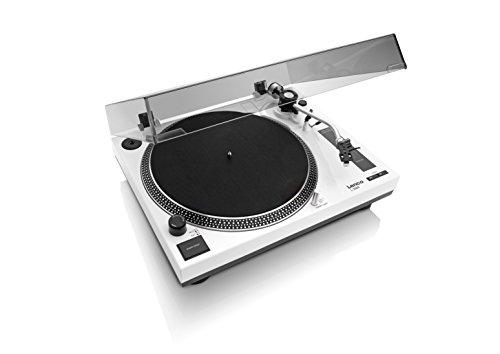 Lenco L-3808 - Tocadiscos (Tocadiscos de tracción Directa, Negro, Blanco, 33,45 RPM, Corriente alterna, 11 W, 5,36 kg)