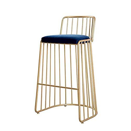75 cm moderne stoelen, metaal, eenvoudig design met fluweel, kussens, barstools, pub, café, keuken, restaurant, blauw