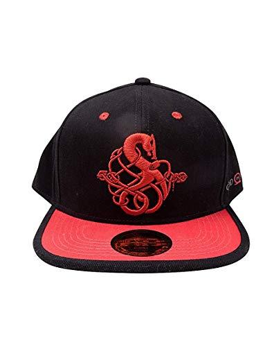 God of War Cap 3D Embroidery Snapback Black