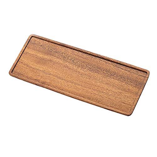 MagiDeal Tablett Satz Walnut Tablett Set Große Ablage Mehrzweck Holz Tablett Set für Lebensmittel, Frühstück, Abendessen, Party, Tee/Kaffee/Trinken - 25x1 2X 1,2 cm
