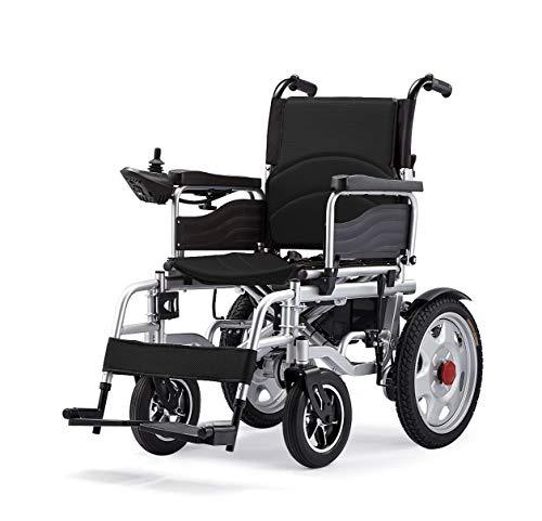 TJZY Elektrische Rollstühle, älteren leichte Faltbare automatischer intelligenter Allrad Roller, multifunktionaler Rollstuhl, ältere Beförderungsmittel,Schwarz