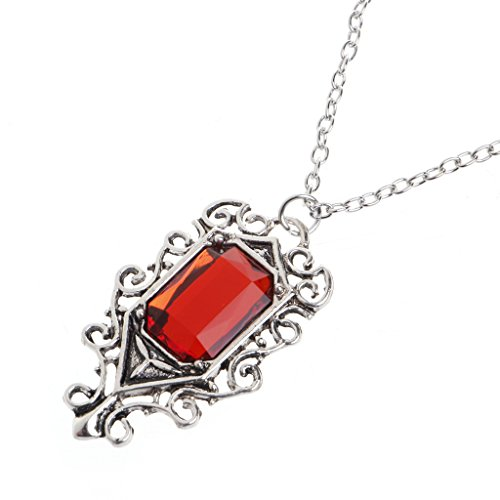 NKYSM Stylish Isabelle Lightwoods Ruby Pendant Necklace Mortal Instruments City of Bones for Women Girls Mum Gifts
