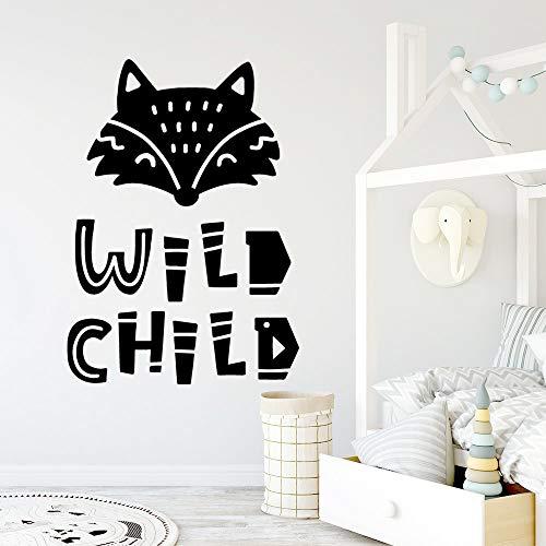 Wild Child Pvc Wandaufkleber Art Decals PURPLE M 28cm X 39cm