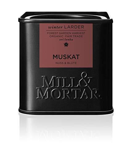 Mill & Mortar ganze Muskatnuss mit Blüte - Bio - 45 g