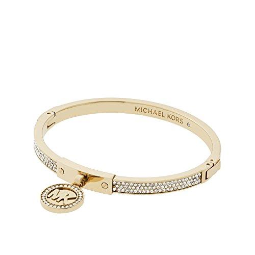 Michael Kors Oro Tone Fulton Hinge Bangle Bracelet