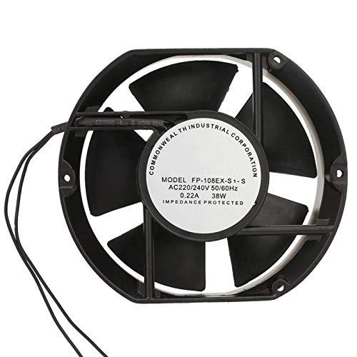 WLGOLD Ventilador axial Ovalado, FP-108EX-S1-S Ventilador axial de CA AC220V 38W Ventilador de refrigeración con cojinete de Bolas Ovalado