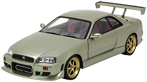 Nissan Skyline GT-R34, metallic-hellgrün, RHD, 1999, Modellauto, Fertigmodell, Greenlight 1:18