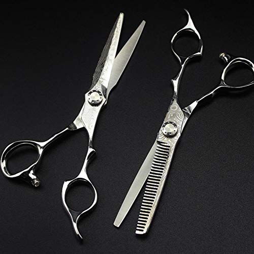 Review Of Barber Salon Scissors Hair Cutting Thinning Scissors Set Giftset Hairdressing 6 Inch