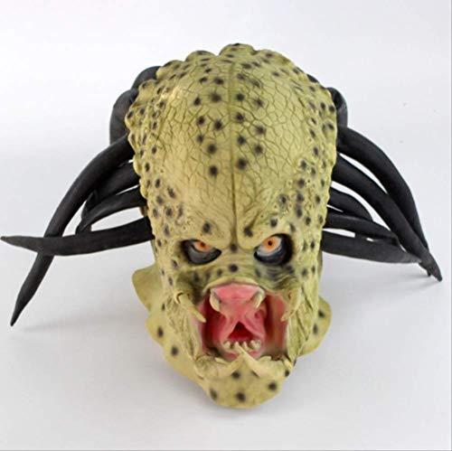 tytlmaske Halbes Gesicht Alien Predator Masken,Latex-Maske,Für Lustige Halloween-Horrorfilm Fancy Fool\'S Day Masquerade Creepy