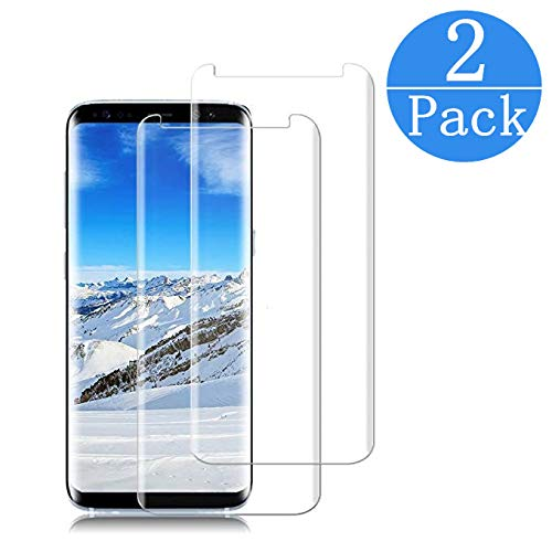 Compatible Samsung Galaxy S8 Tempered Glass Screen Protector,[2 - Pack][9H Hardness][Anti-Scratch][Anti-Fingerprint][3D Curved][Ultra Clear] Screen Protector for Galaxy S8