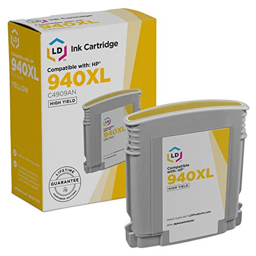 LD Remanufactured Ink Cartridge Replacement for HP 940XL C4909AN High Yield (Yellow)