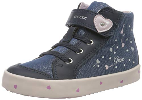 Geox Baby Mädchen B Kilwi Girl G Sneaker, Blau (Navy/Pink C0694), 22 EU