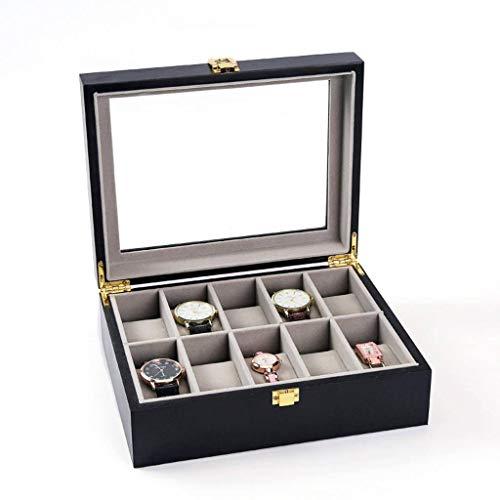 GOVD GOVD Uhrenbox Herren Holz Aufbewahrungsbox Display Box, für Herren Damen Uhren