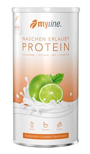 myline Protein Buttermilch-Limette - hochwertiges Proteinpulver inkl. Rezeptheft, Verpackungseinheit: 400g Dose