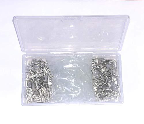 Movilideas - Caja con 100 terminales faston de 6.3...