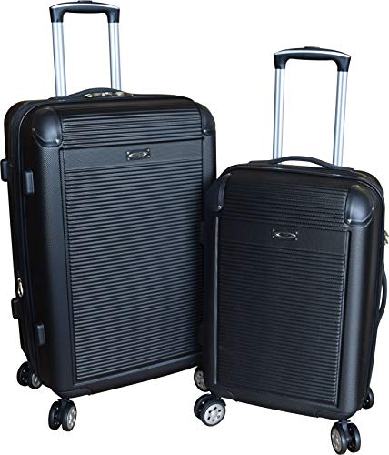 Kemyer 900 Series 2-PC Lightweight Expandable Spinner Luggage Set (Black)