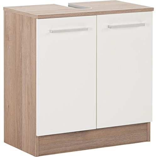 Pelipal 380 Rom Waschbeckenunterschrank, Holzdekor, Sanremo Eiche Terra Quer Nachbildung, 33,0 x 60,0 x 62,0 cm