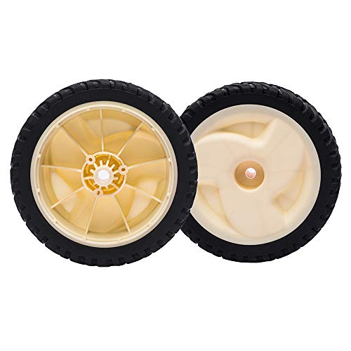 """TENGMUJX 2 Pack Replacement 105-1814 8"""" X2"""" Wheel Gear Assembly for Recyclers 20001-20658"""